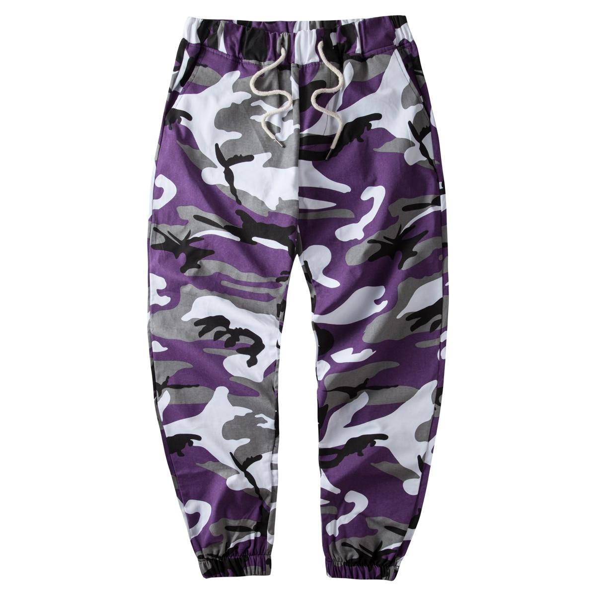 Pants Men Trouser-Pockets Orange Camouflage Jogger Military Tactical Cotton Hip-Hop Woven