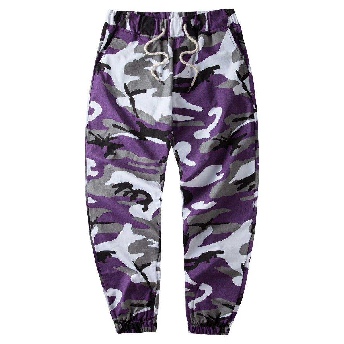 Image 2 - Ins pomarańczowe spodnie kamuflażowe do biegania męskie spodnie hip hopowe tkane na co dzień taktyczne wojskowe kieszenie na spodnie bawełniane 2020 spodnie dresoweSpodnie haremki   -