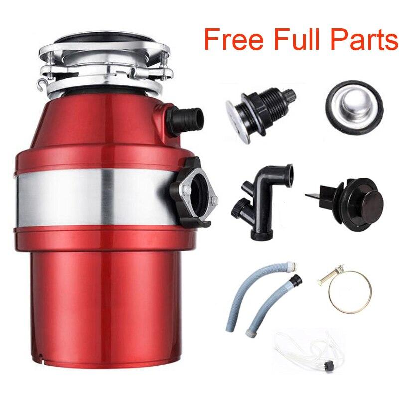 6 kg Triturador De Resíduos Alimentares Com Interruptor Do Ar, peças completa, de Alta-sensibilidade do Sistema de Proteção Para A Cozinha,