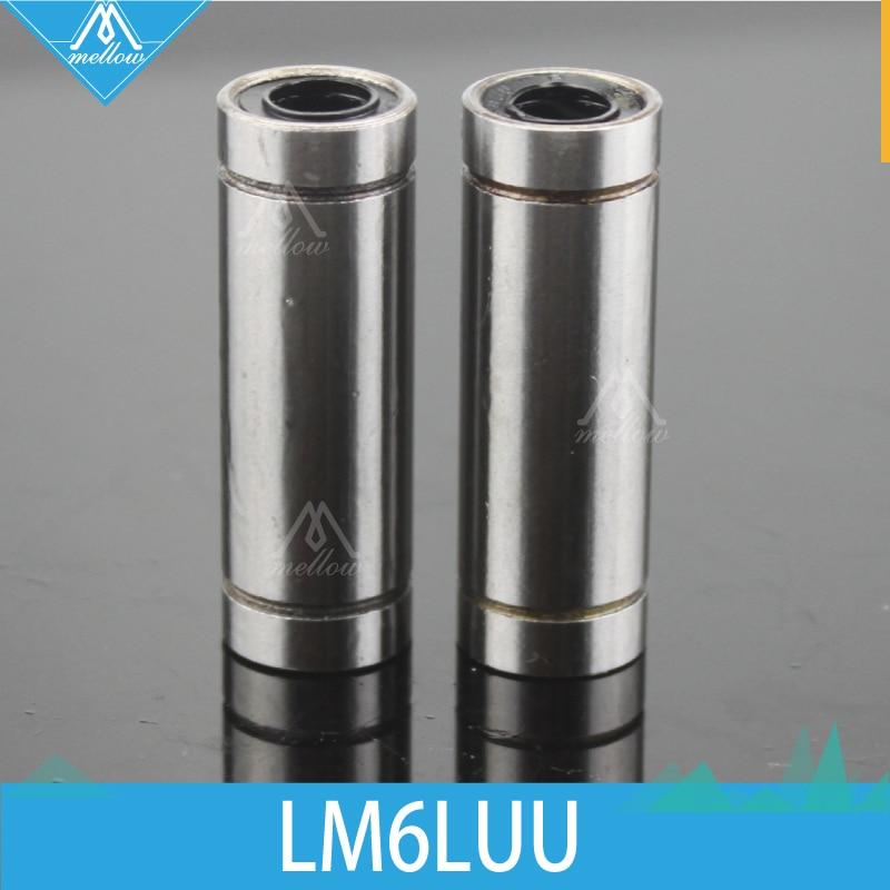 Free Shipping!2 Pcs/lot LM6LUU LML6UU 6x12x35mm 6mm Long Linear Ball Bearing  Bush Bushing Ultimaker 2 3d Printer LM6L Cnc Parts