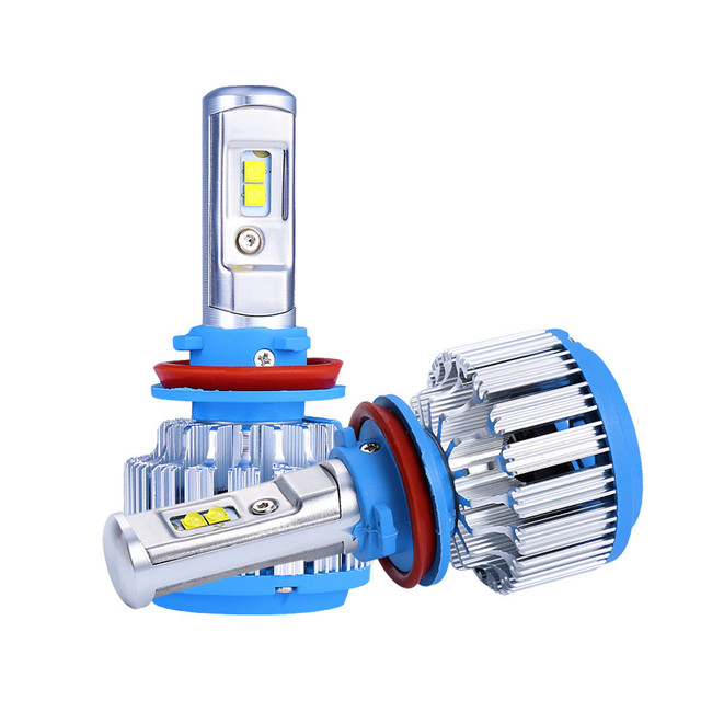 HAOSJsuper bright T1 Car led Headlight H7 H4 H11 HB3/9005 HB4/9006 H1 H3 9012 H13 9004 9007 70W 7000lm 6500K Auto Bulb Headlamp