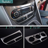 1 PCS DIY Car Styling NEW Stainless Steel Air Conditioning Panel Light Box Cover Case For