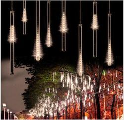 50 سنتيمتر 240LED النيزك دش المطر أنبوب LED عيد الميلاد ضوء حفل زفاف حديقة عيد الميلاد سلسلة ضوء في الهواء الطلق عطلة الإضاءة 100-240 فولت