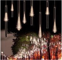 50CM 240LED Meteor Shower Rain Tube LED Christmas Light Wedding Party Garden Xmas String Light Outdoor Holiday Lighting 100-240V