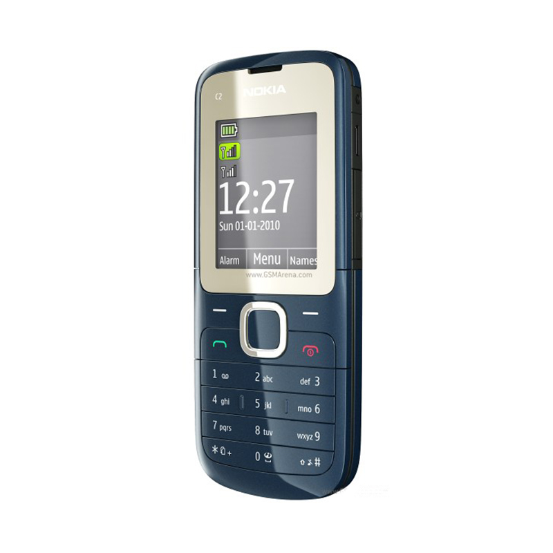 Refurbished Original C2 00 Unlocked Nokia C2 00 mobile phone black and red color for you