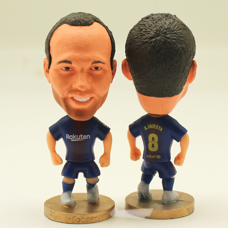 Football star Soccer Star 8# INIESTA (B-2018) 2.5 Action Dolls Figurine