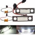 2 Unids 18-LED Lámpara Luz de Placa de Licencia Para Para Skoda/Octavia/Fabia/5J No Error Blanco 13.5 V 7000 K