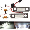 2Pcs License Number Plate Light Lamp 18-LED For  For Skoda/Octavia/Roomster/5J No Error White 13.5V 7000K