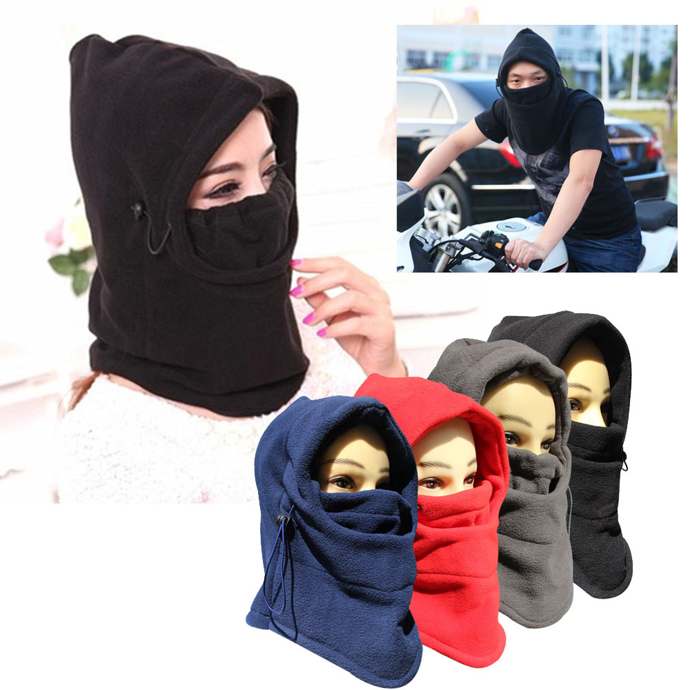 Thermal Fleece Balaclava Outdoor Sports Neck Motorcycle Face Mask Winter Warm Ski Snowboard Wind Cap Cycling Balaclavas Men