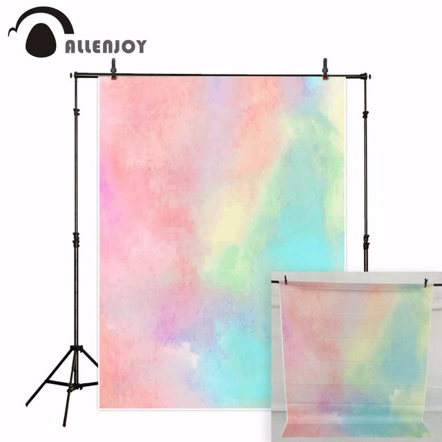 Allenjoy photography backdrops pastel rainbow color photocall for newborn baby kids photo background photography a photo