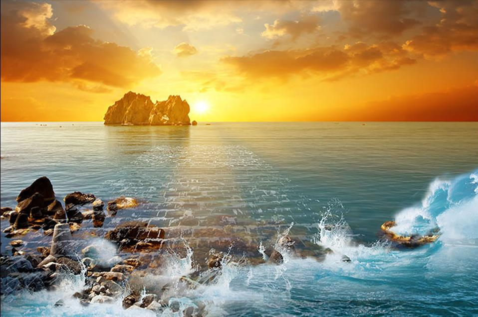 Custom Mural Wallpaper Hd Beautiful Sandy Beach Sea View: Custom Photo Wallpaper Bedroom 3d Pvc Flooring Waterproof