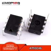 10PCS free shipping AT93C46 93C46 DIP-8 EEPROM 64×16 new original