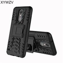 Na telefony komórkowe dla Coque LG K8 2018 obudowa odporna na wstrząsy gumowe twarde silikonowy telefon etui na LG K8 2018 pokrywa dla LG Aristo 2 telefon torba Shell XYWZV