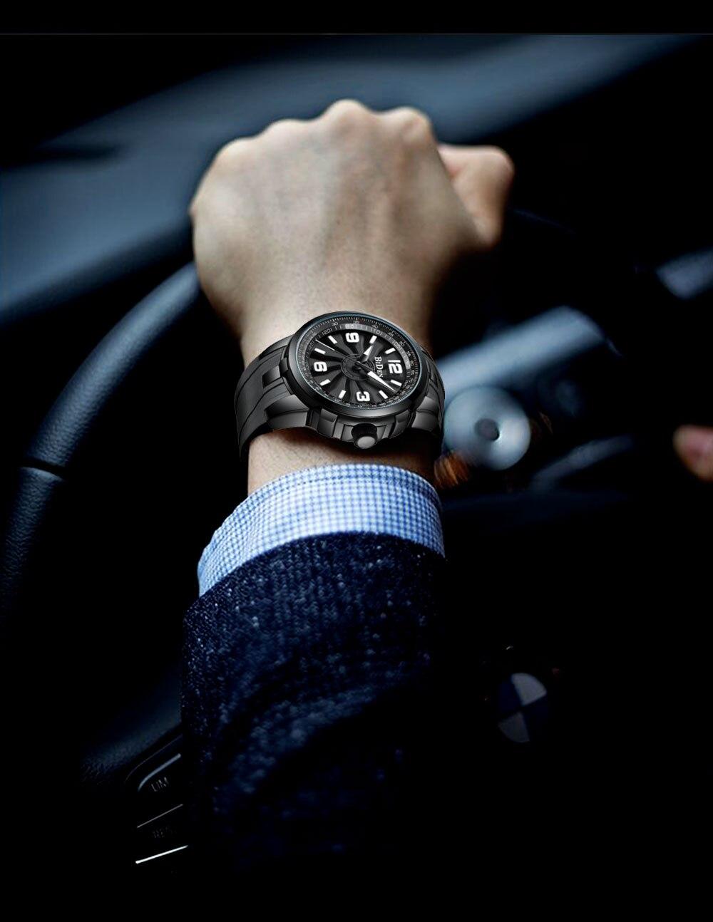 4801b056b5b0 Compre BIDEN 2018 Nuevo Reloj Para Hombre Caja Giratoria De Lujo De ...