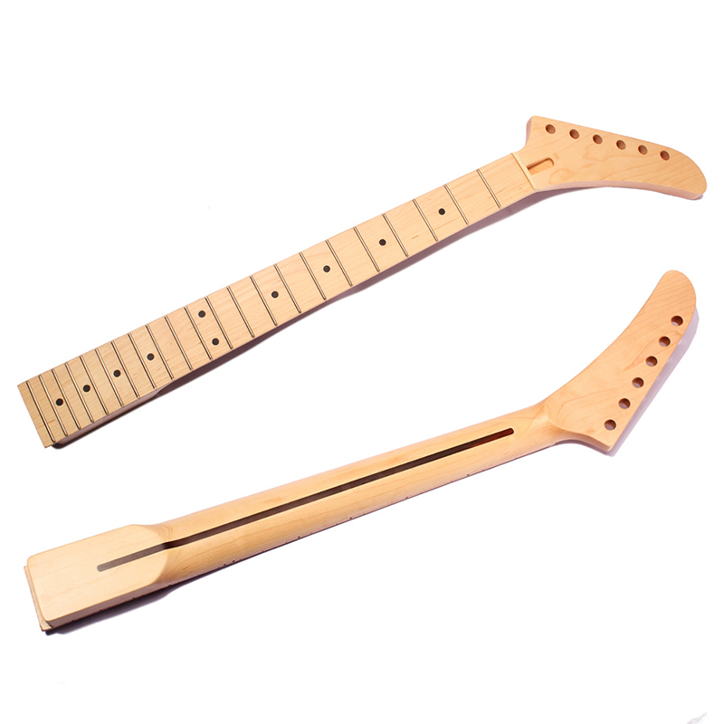 For ST Parts Replacement Banana Electric Guitar Neck Dot Inlay 22 Fret Maple one tl electric guitar neck 25 5 inch 22 fret maple made and rosewood fingerboard bindding also have 21 fret