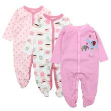 Купить с кэшбэком  Baby Clothes Newborn Toddler Infant Girls Boy Pajamas 0-12 Months Cute Cartoon Print Babies Romper