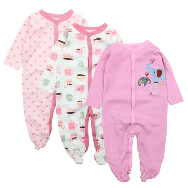 Baby Clothes Newborn Toddler Infant Girls Boy Pajamas 0-12 Months Cute Cartoon Print Babies Romper