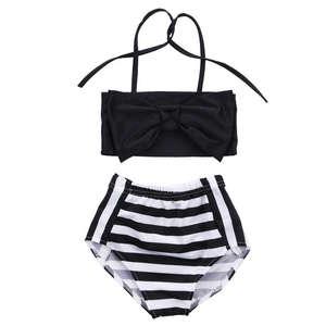 c0acdc4480 Baby Kids Girls Bikini Set Swimsuit Beachwear Two-Piece Suits Striped  Swimming