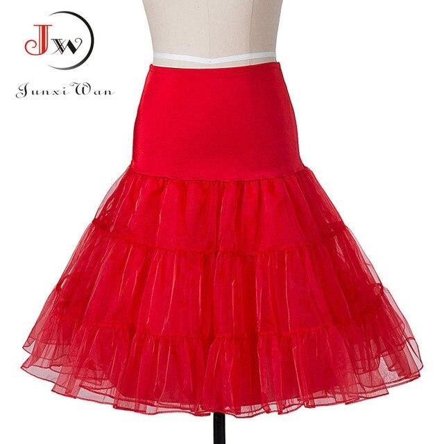 Etekler Vintage 50s 60s kadınlar balo Tutu etek salıncak Rockabilly Petticoat jüpon kabarık etek kabarık Pettiskirt düğün için