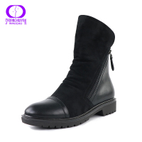 Fashion Classic Suede Women Boots Cool Double Zip Short Plush Ant Slippy Spring Autumn Boots Short