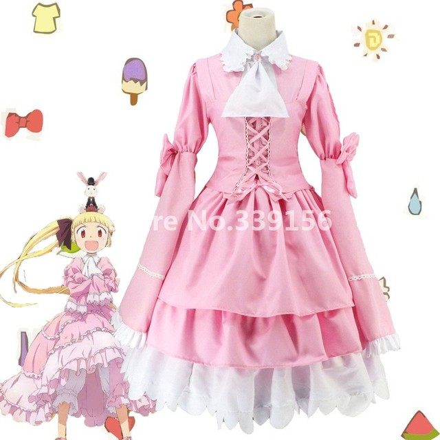 Alice Zouroku Anime Cosplay Pink Maid Dress Gothic School Students Dresses Cute Costumes