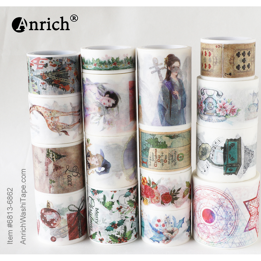 Free Shipping And Coupon Washi Tape,Washi Tape,watercolor,Optional Collocation,on Sale,#6813-6862