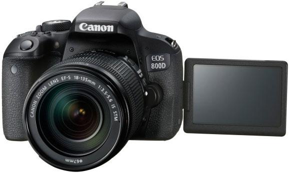 Canon 800D T7i appareil photo reflex numérique corps & EFS 18-135mm F3.5-5.6 est l'objectif STM