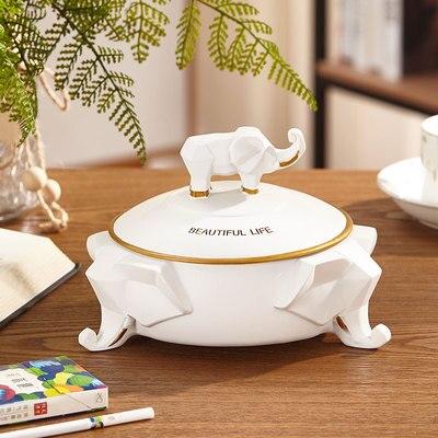Нордическая Смола слон коробка для салфеток ретро гостиная многофункциональный ящик для хранения пультов дистанционного управления домашнее бумажное полотенце домашний декор - Цвет: C