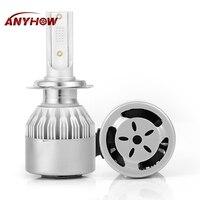 Car LED Headlight H7 H4 led Headlamps Auto Light H1 Fog Bulbs Automotive Lamp H11 9005 9006 COB 8000LM Headlight 8000K Ice Blue
