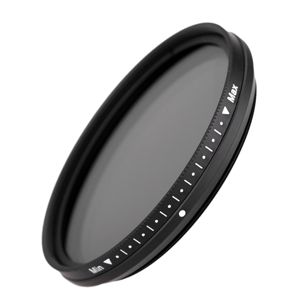 FOTGA 58mm 가변 페이더 ND 렌즈 필터 ND2 ~ ND400 ND100 ND32 ND16 ND8 ND4 중립 밀도