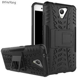 BYHeYang Pour ZTE Lame A510 Cas TPU & PC Silicone Double Armure Couverture arrière avec le Support de Stand Hard Case Pour ZTE Lame A510 5.0 pouces
