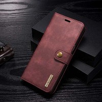 Luxury Leather Case Flip Magnetic Cover Wallet Phone Bag 2 In 1 Detachable Mobile Phone Case
