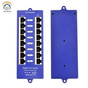 Image 3 - 802.3af Mid span PoE injector Mode B(4/5+,7/8 ) Passive Gigabit 8 Port PoE Injector For Mikrotik UBNT CCTV Network