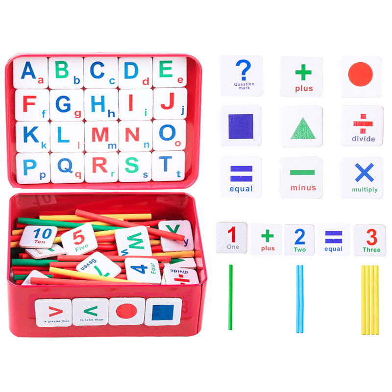 Kids Baby Math Toys Arithmetic Counting Stick Magnetic Mathematics Teaching Aid Count Toys Children Puzzle Educational Toys Gift