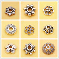 100pcs,5-10mm Flower Pattern Carved Spacer Beads,For DIY Jewelry making !We provide mixed wholesale for all items !