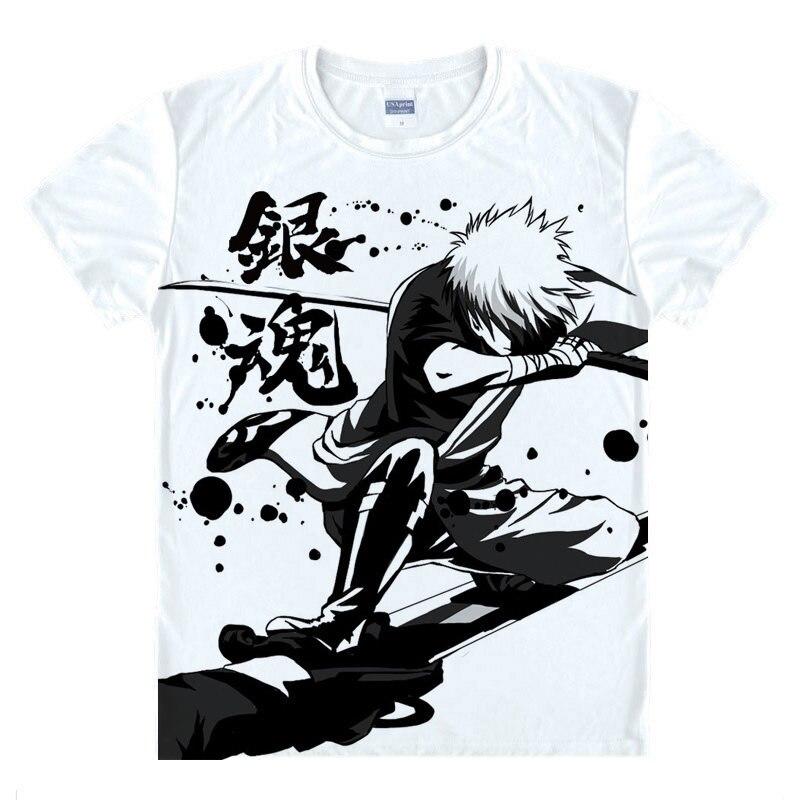 GINTAMA T-Shirt Sakata Gintoki Shirt High Quality T-Shirts anime gift cute gift Womens Printed T Shirts new christmas cosplay a