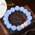 High Quality Natural Stone Bracelets Beads Blue Crystal Bracelets Strand Bracelets Bracelets & Bangles 12MM Diybeads
