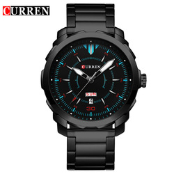 Curren Watches 2017 Mens watches top brand luxury relogio masculino Quartz watch fashion casual Sports Watch 8266 Date Clock Man