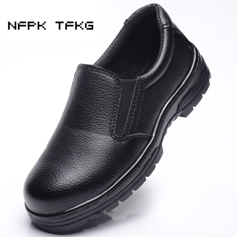 Big Size Men Black Casual Steel Toe Cap Work Safety Shoes