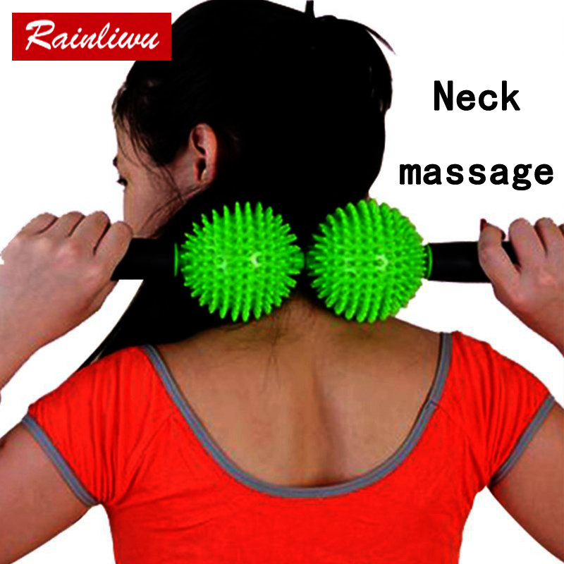 Neck massager Ball body Massage roller Go pain Fitness roll Stick Health Care Massage Instrument Thin body beauty keeping device home health care instrument chinese body massage device neck massager red light heating kneading massage shawl 120804