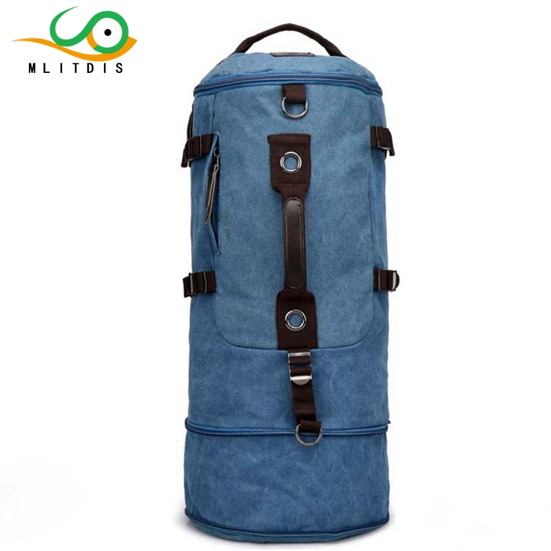 MLITDIS Large capacity man travel bag mountaineering backpack men bags canvas bucket shoulder bag