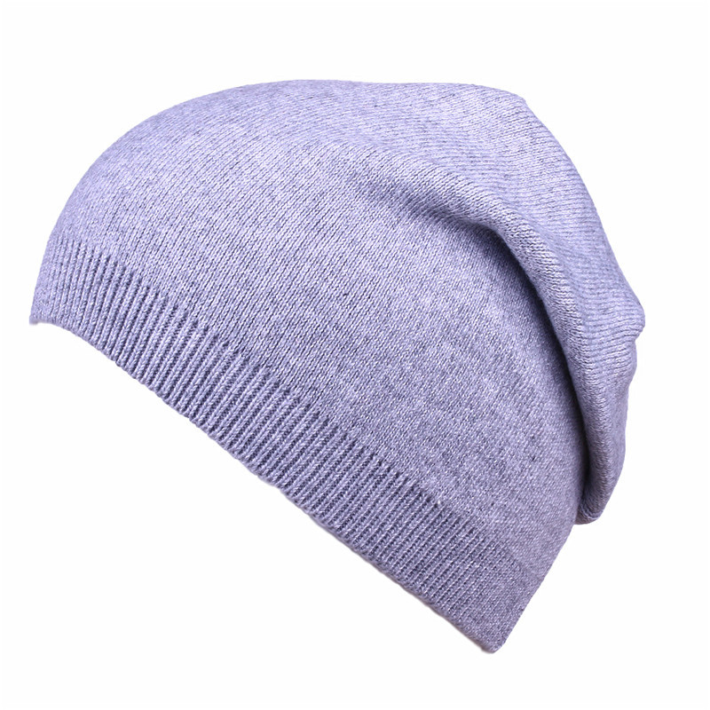 Saufuo Unisex Skullies Beanies Winter Autumn Knitted Wool mixed Beanie Female Skullies Casual Cap 5 colors skullies