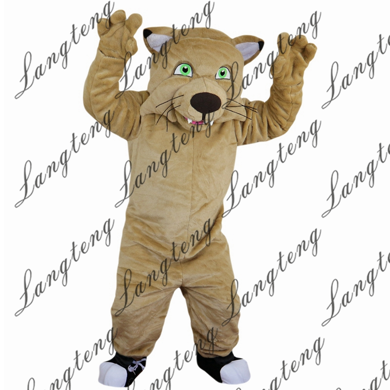 2018 New Hot Sale Cat tiger leopard Mascot Costume Adult Size Halloween Outfit Fancy Dress Suit Free Shipping