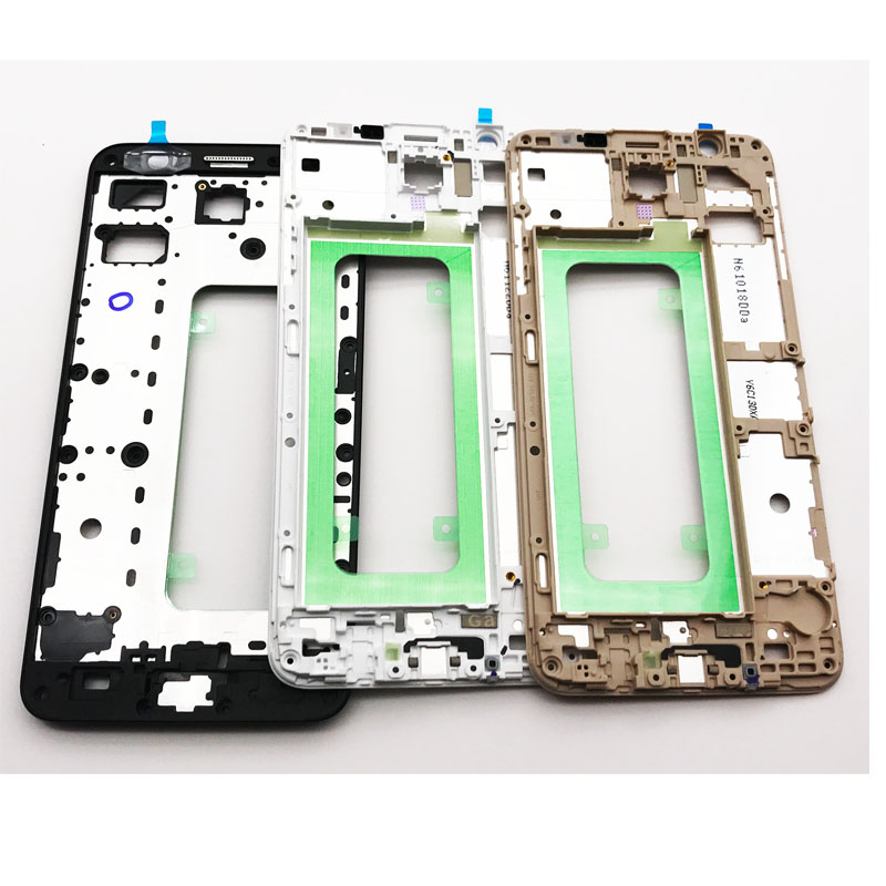Front Frame For Samsung Galaxy J7 Prime / On7 (2016) G610 Front Bezel Housing LCD Panel Faceplate With Free Adhesive tapes