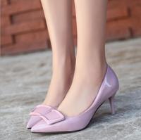 Женская обувь с элегантным заостренным носком на высоком каблуке; сезон осень зима; женская обувь из лакированной кожи