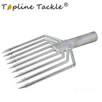 TopLine Tackle Fishing Tools Stainless Steel Prong 9 prong Harpoon Fish Fork Fishing Ice Breaker Accessory Tackle Tool|Fishing Tools| |  -