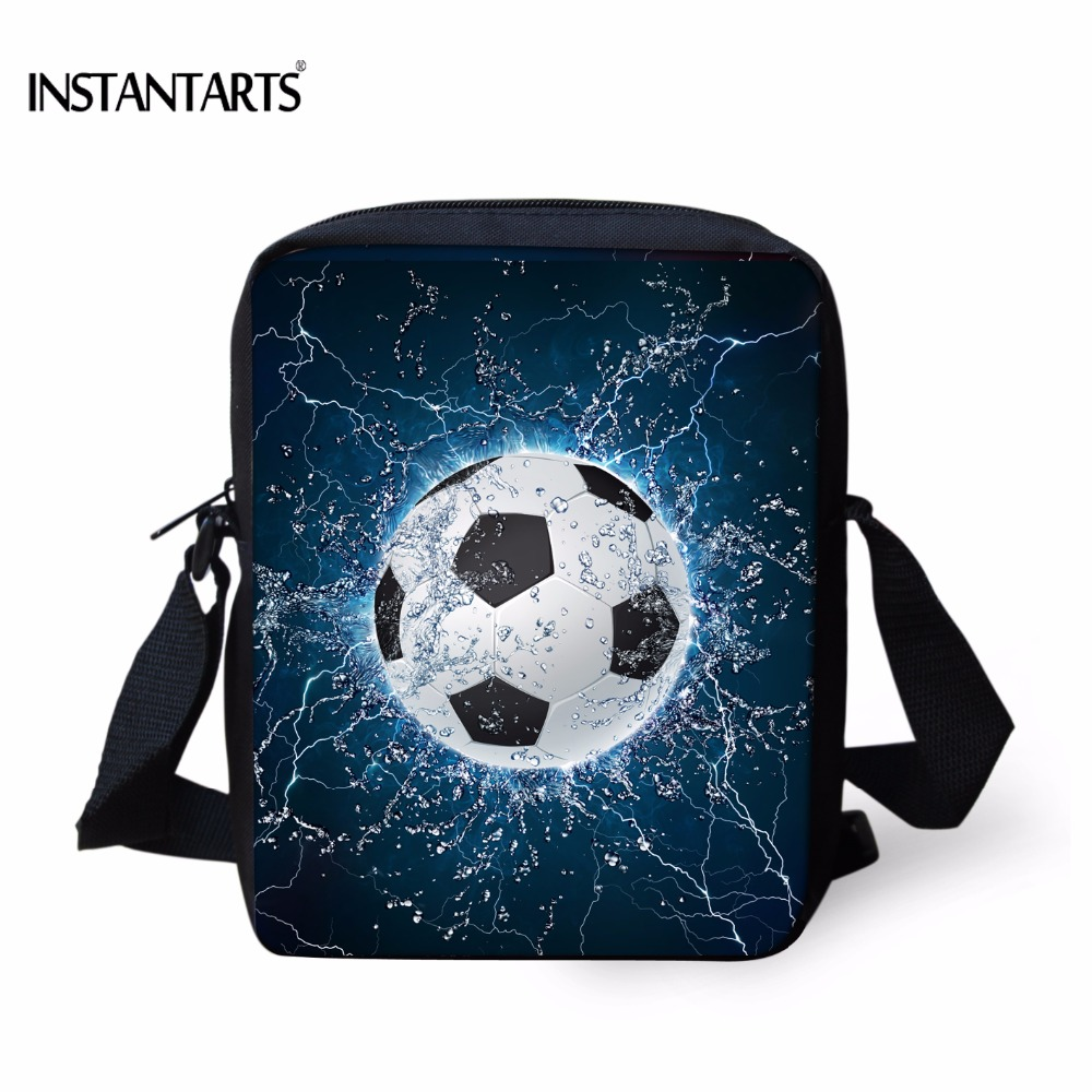 INSTANTARTS 3D Ice Ball Soccerly Printed Boy Mini Handbags Fashion High Quality Travel Crossbody Bags Famous Brand Messenger Bag