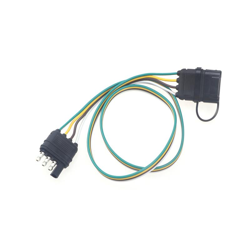 Exelent 4 Wire Flat Trailer Connector Frieze - Electrical and Wiring ...