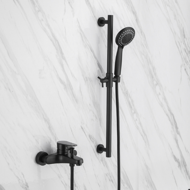 black shower head and faucet. Black Shower Mixing Faucet Wall Mounted Bathroom Single Handle  Bathroom Mixer Tap Head