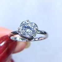 Fine Jewelry Real 18K Gold AU750 G18K 1ct Moissanite Diamond Ring Gemstone Rings for Women